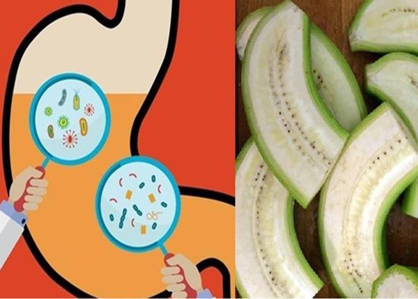 Chuối xanh có vị chát, tính mát giúp bổ tỳ, lợi tiểu,... và chữa bệnh dạ dày